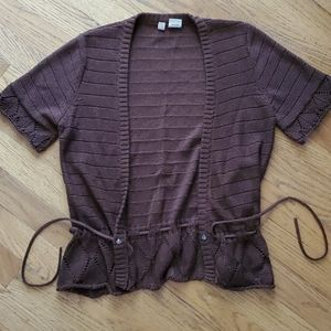 Anthropologie Moth Brown Cardigan Small